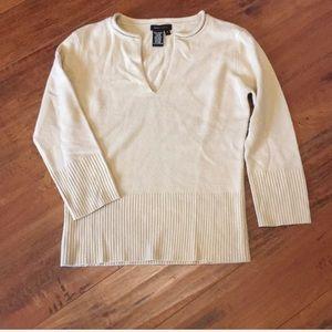 BCBGMAXAZRIA Cream 3/4 Sweater Size Small